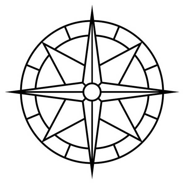 Compass Rose Wide