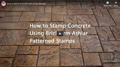 How to Stamp Concrete with Ashlar Stamps