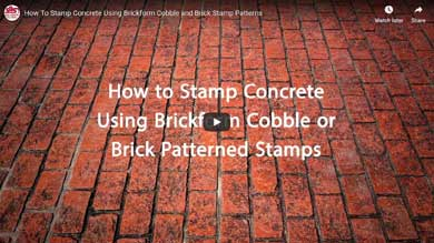 How to Stamp Concrete Using Brickform Cobble and Brick Patterns