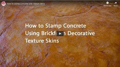 How to Stamp Concrete with Texture Skins